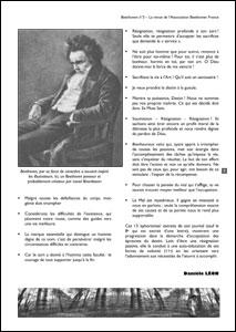 Une page du n°3 de la revue Beethoven