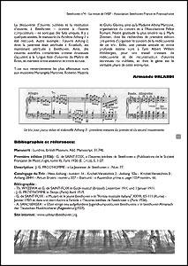 Une page du n°4 de la revue Beethoven