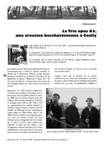 Page 2 du n°8 de la revue Beethoven
