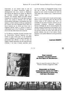 Page 3 du n°8 de la revue Beethoven